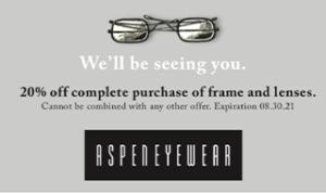 Aspen Eyewear 2021